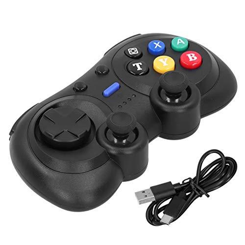 Mxzzand EIN-Tasten-Verbindungsmodus Turbofunktion Dual Impact Mini-Gamepad-Gaming-Joystick Stabile Signalverbindung für Switch Console für Windows-PC(Black Color Box Packaging)
