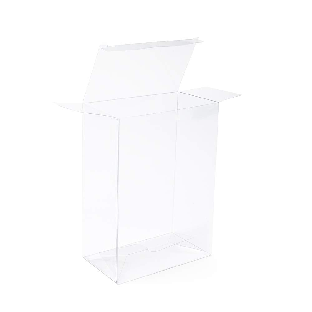 """ClearBags 5 ?"""" x 3"""" x 7 ?"""" Clear Holiday Gift Boxes   Clear PET Plastic Boxes for Christmas Weddings Parties   Favor Boxes for Ornaments Gifts Candy Cookies   Food Safe PLB67A   25 Boxes"""