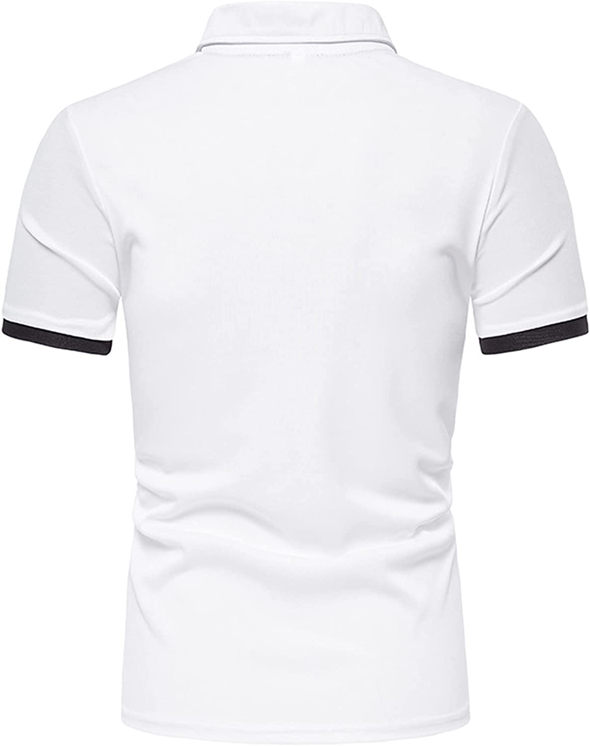 Mens Fashion Workout Polo Shirts Casual Sport Buttons Short Sleeve Shirts Fit Printed Shirts