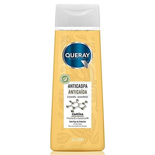 Queray Champú Anticaspa Anticaída Cafeína Todo Tipo Cabellos - 360 ml.