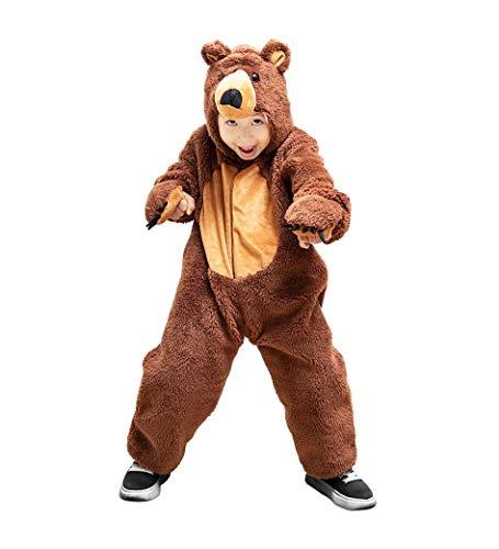 Braunbär-Kostüm, F67 Gr. 98-104, für Kinder, Bären-Kostüme für Fasching Karneval Fasnacht, Kleinkinder-Karnevalskostüme, Kinder-Faschingskostüme, Geburtstags-Geschenk Weihnachts-Geschenk