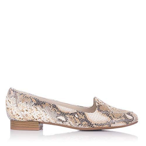 MARIA JAEN 1 Zapato Piel Reptil Mujer BEIG 40