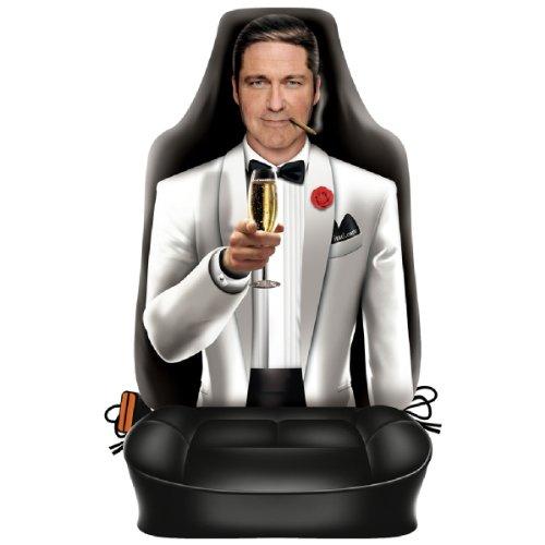 sabuy Auto Sitzbezug - Gentleman im Smoking - lustiger Sitzbezug mit Fotodruck Motiv - EIN Hingucker mit Humor für Ihr Auto