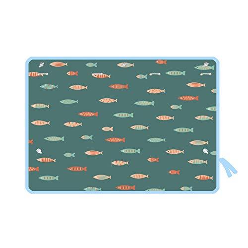 WZM Ventana Parasoles Laterales para Coches Parasol de Coche Ventosa Cortina de Cche de Protección Solar de Coche de Dibujos Animados de Verano 2 Piezas (70 * 50 cm) Cuadra (Color : Fish)