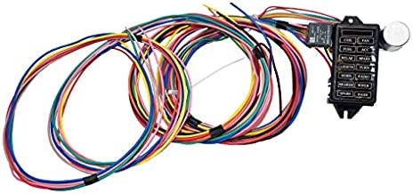 A-Team Performance 14-Circuit Basic Wire Kit Small Wiring Harness Cable Compatible with Rat Street Rod Sand Car Truck