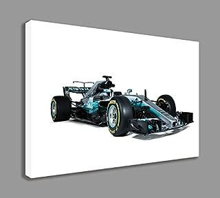 """MERCEDES AMG F1 W08 EQ POWER FORMULA ONE F1 CAR CANVAS WALL ART (44"""" X 26"""" / 110 X 65cm)"""