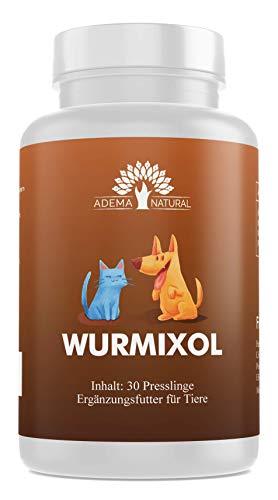 Adema Natural WURMOXIL - Wurmmittel, Wurmkur, Hunde & Katzen (Hund, Katze), 30 Presslinge