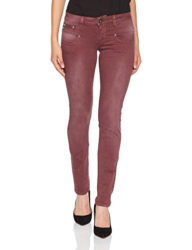 Freeman T Porter Alexa Slim New Magic Color Pantalones, Marrón (Sable F829), 24W / XS para Mujer