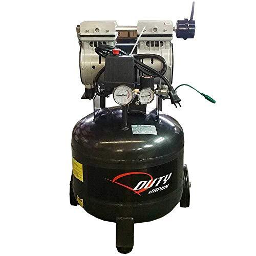 DUTY JAPAN 高性能 ツインピストン 縦型オイルレスコンプレッサー40Lタンク