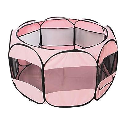 Amazon - Save 50%: CUPETS Portable Pet Playpen Foldable 600D Oxford Cloth Dog House…