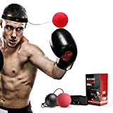 Linkax Boxen Reflexkugel Verbesserung der Hand-Auge-Koordination Trainingsreaktionskampf gegen Ballreflex(Boxkugel mit 2 Schwierigkeitsgraden) -