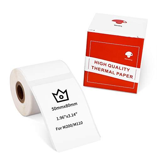 """Etiqueta Autoadhesiva Rectangular Multiusos para Impresora de Etiquetas M200 / M110, 1.97 """"x3.15"""" (50x80 mm), 100 Etiquetas / Rollo, Negro Sobre Blanco"""
