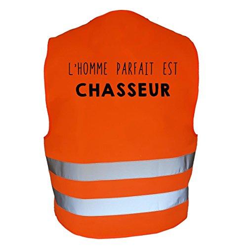 AtooDog Gilet de Chasse Fluo réfléchissant, l'homme Parfait est Chasseur (XL, 178)