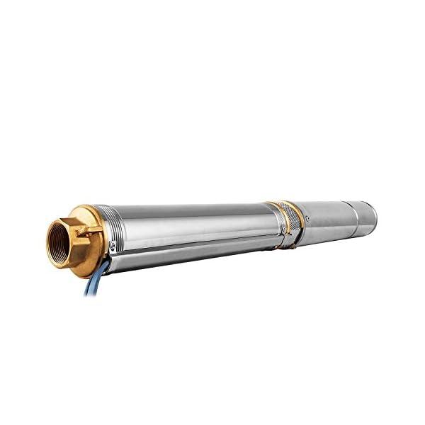 Cueffer Bomba para Pozos 220V 1HP 0.75KW Bomba de Agua Sumergible 67m 6500L / H Bomba de Pozos Profundos con el Cordón…