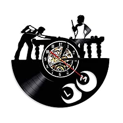 TTBOO Vinyl Record Wall Clock Decorative Wall Art Sport Theme LED Black Light Time Modern Home DecorWith Light