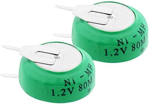 1.2V 80mAh Ni-MH 80H Botones Recargables Baterías Ni-MH 80H Power Car Card Taxi Pilos de Taxi-2 Piezas