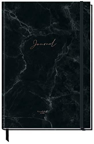Bullet Journal dotted A4+ mit Gummiband [Black Marble] 156 Seiten | Notizbuch gepunktet, Skizzenbuch, Tagebuch von Trendstuff by Häfft | nachhaltig & klimaneutral