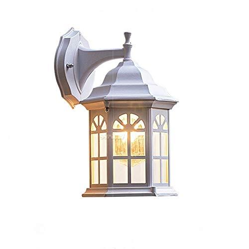 Lámpara de Pared Para Exteriores Retro Industrial de viento pasillo luces blancas lluvia a prueba de herrumbre aleación de aluminio de la pared de cristal de la lámpara de hierro forjado lámpara de pa