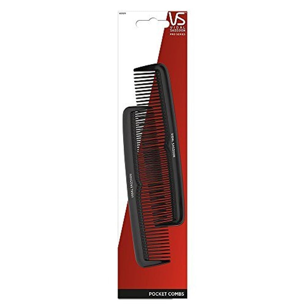 白菜劣る通行料金Vidal Sassoon 5-inch Pocket Combs, 2 Count [並行輸入品]