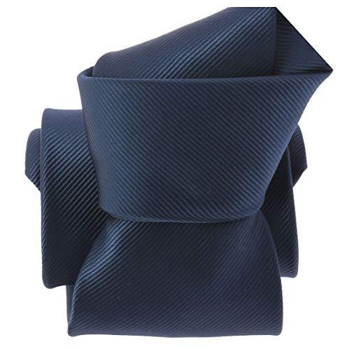 Clj Charles Le Jeune. Cravate. Monochrome, Microfibre. Bleu, Uni.