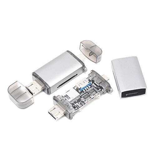 Bascar USB-Typ C SD/Micro SD Kartenlesegerät Alles in einem Alles in 1 USB-Speicherkartenleseadapter für USB OTG Adapter und USB 2.0 Speicherkartenleser für SDXC SDHC SD MMC RS-MMC Micro