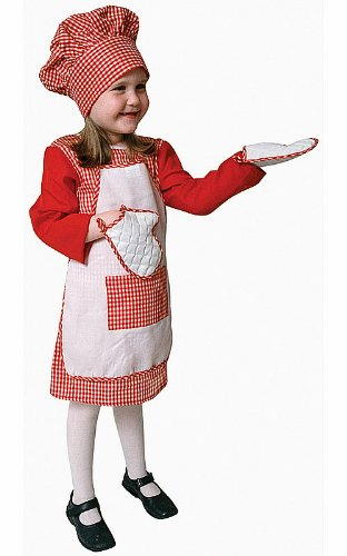 Dress Up America Ensemble de Costume Chef Vichy Rouge