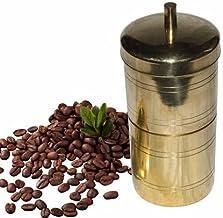 Traditionele filterkoffiezetapparaat, messing/zuid Indische druppelstijl afkooksel vloeibare maker (250Ml, ideaal voor 3 t...