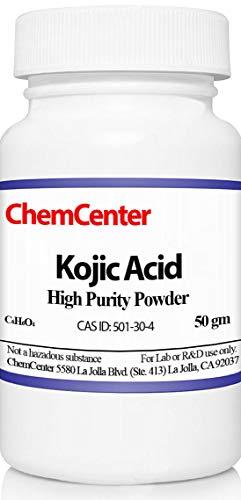 Kojic Acid, High Purity Powder, 50 Grams