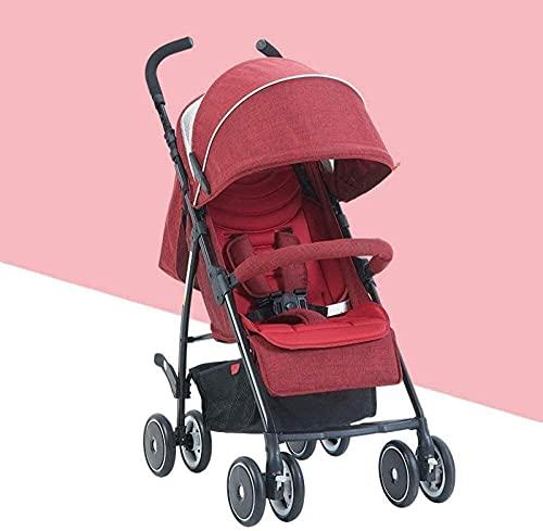 Cochecito de bebé Carrito recién nacido Cochecito de bebé Cochecito de bebé, cochecito de verano plegable Cochecito de viaje infantil ligero, 80 * 48 * 28 / cm (color: rojo) fengong ( Color : Red )