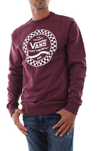 Vans Side Stripe Fleece Crew -Fall 2019- Prune