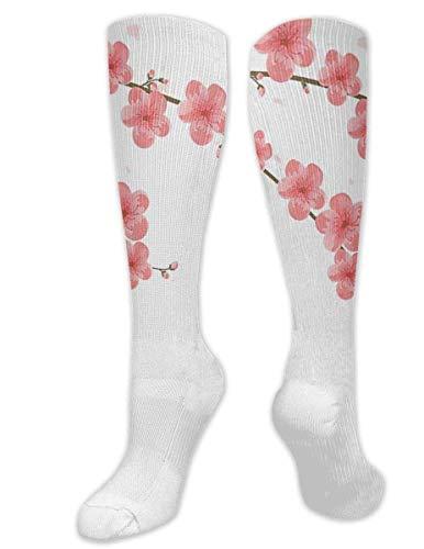 zhouyongz Cherry Blossoms April Spring Romance Kompressionsstrümpfe für Männer und Frauen – Best graduated Athletic & Medical für Männer & Frauen, Laufen, Flug, Reisen