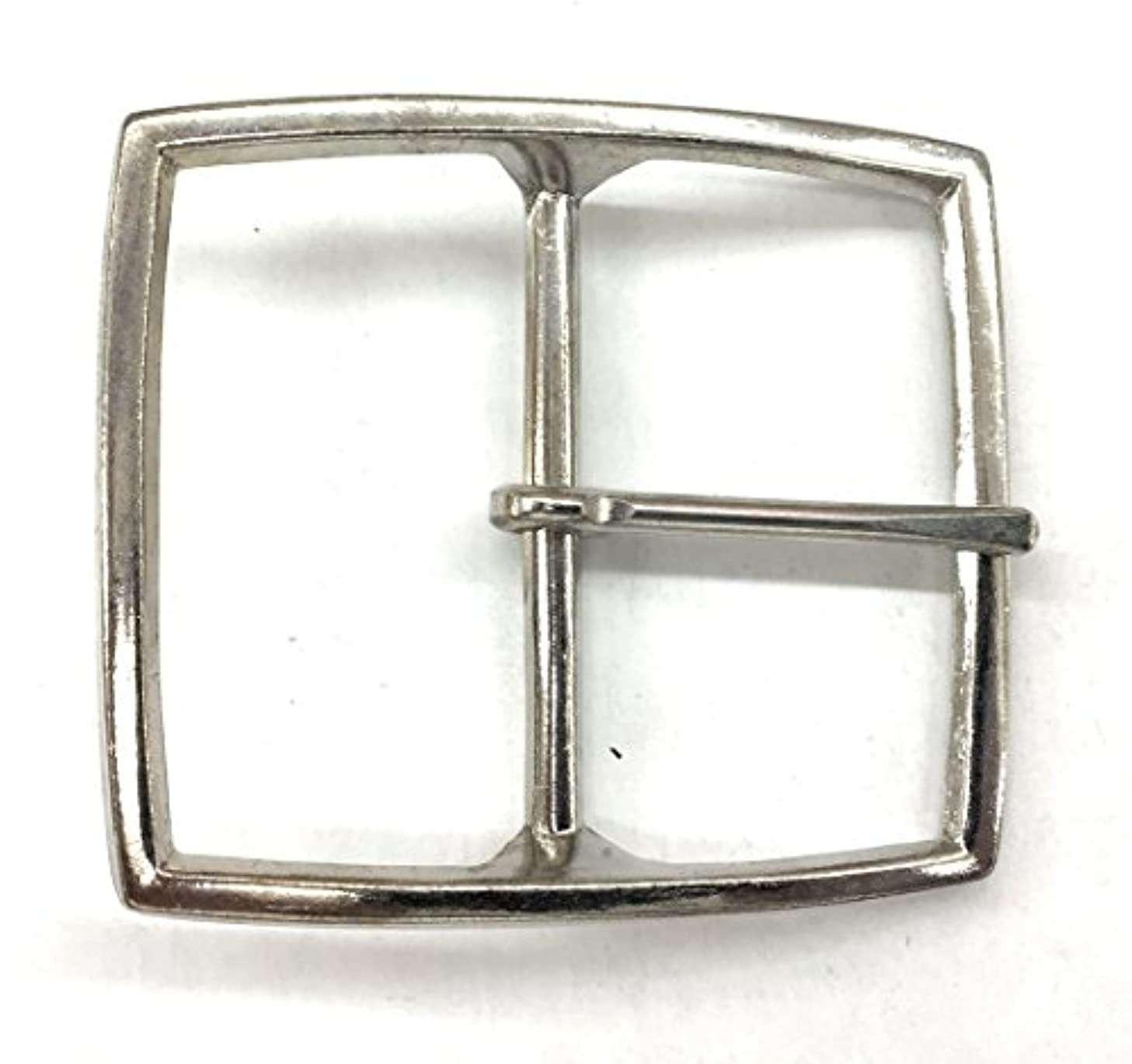 Belt Buckle for women- plated Silver Polished 2 inch square Buc3