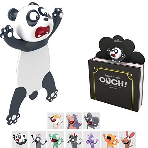 KXT Witzige 3D Cartoon Tier-Lesezeichen - Lustiges Geschenk für Kinder und Erwachsene (Panda)