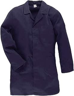 Uomo Cappotto PROFESSIONALE LAVORO CAMICE camice Cappotto 3//4 lungo cotone grigio scuro