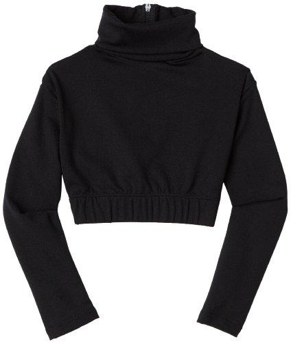 Capezio Big Girls' Turtleneck Long Sleeve Top,Black,M (8-10)