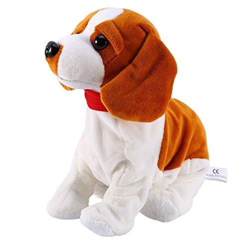Elektronischer, sprachgeseuerter Hund, Spielzeug für Kinder, Roboter braun