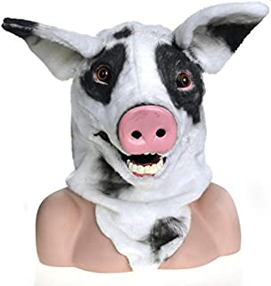 WNGCAR AU Party Moving mask Spotted Pig Simulation Animal mask (Color : Multi-Colored)