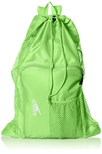 Speedo Unisex-Adult Deluxe Ventilator Mesh Equipment Bag Jasmine Green, One Size