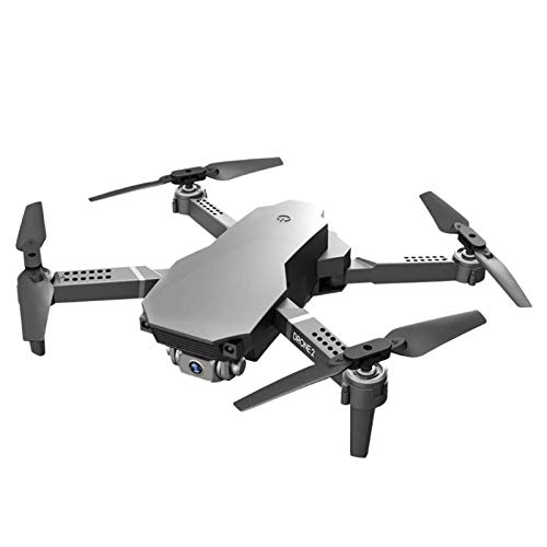 SDDS 4K Dual Camera WiFi Mini Drone, Folded Fixed-Point Flight Real-Time Transmission, App Control Gesture Photo/Video MV Special Effects Headless Mode, Kids Adult Beginner RC Quadcopter,Gray