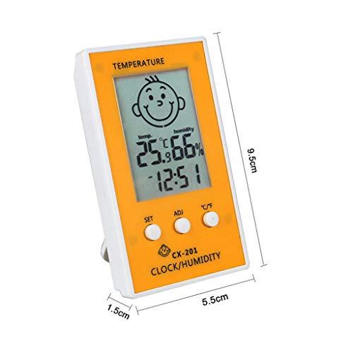 Thuis glimlach Temperatuur en Vochtigheid Meter, Hoge precisie Digitale Baby Kamer Cartoon Thermometer Hygrometer Elektronische Klok E