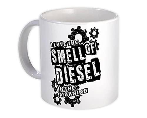 Amo el olor a diesel por la mañana : Regalo Jarra : Camión de coche de motor agrícola