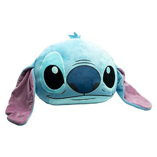 Lilo & Stitch - Cojín - Stitch - Cojín decorativo infantil - Azul - 57 x 46 cm