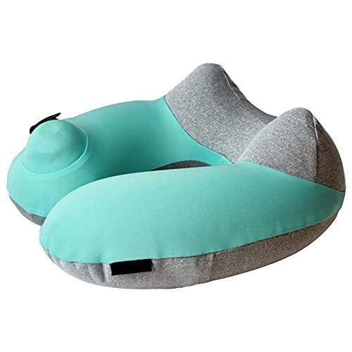 JMYSD Cuscino Gonfiabile Portatile A Forma di U Cuscino per Il Collo Cuscino Gonfiabile per Aerei da Viaggio All'aperto Automatico Premendo Poggiatesta