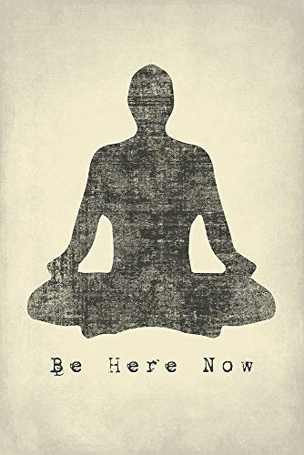 Keep Calm Collection Be Here Now, Mindfulness Meditation Poster Print