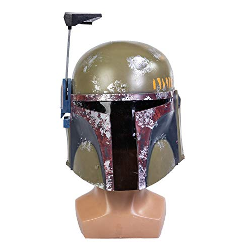 Coslive The Mandalo Cosplay Boba Fett Helmet Maske Latex Voller Kopf Helm SW Cosplay Kostüm Props für Erwachsene Herren Halloween Kleidung Merchandise
