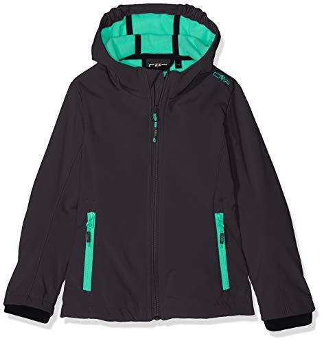 CMP Mädchen Melange Softshell Jacket with ClimaProtect Technology Jacke, Anthracite-Aquamint, 128