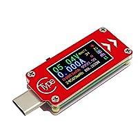 TC64Type-CカラーLCDUSB電圧計電流計電圧電流計マルチメーターバッテリーPD充電パワーバンクUSBテスター