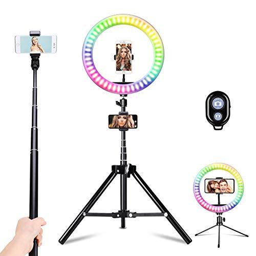 Vingtank LED Luce ad Anello per selfie da 10,2', Flash Ring Light con treppiede e supporto per telefono cellulare, LED Dimmerabile Desktop Beauty Selfie Light per video di YouTube, streaming live