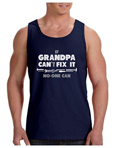 Green Turtle T-Shirts Camiseta de Tirantes Hombre - If Grandpa Can't Fix It No One Can - Regalo Divertido para el Abuelo, Abuelito, Abu