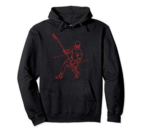 Lacrosse Defender Hoodie D-Pole LAX Defense Player